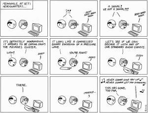 SETI Gets A Signal ... Take me outta space!  *webcomic