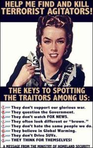 Help find terrorist agitators